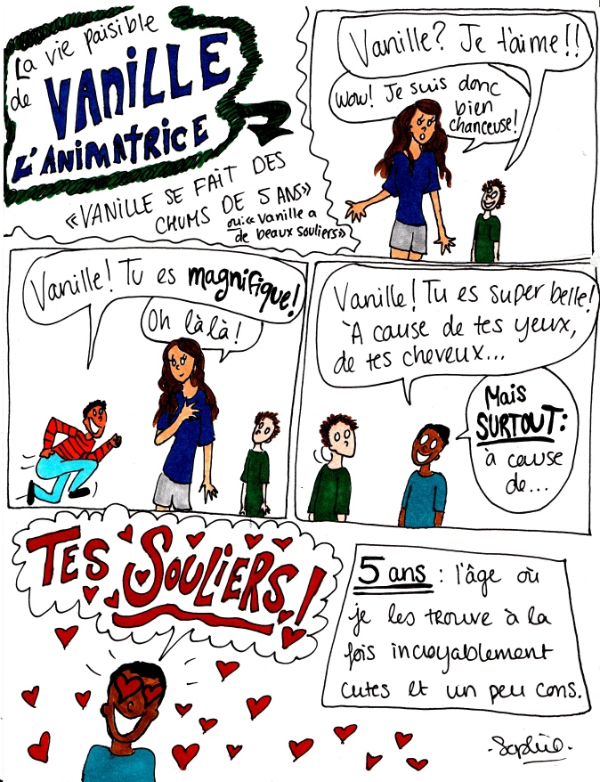 vanille souliers